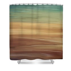 Seaside Shower Curtain by Lourry Legarde