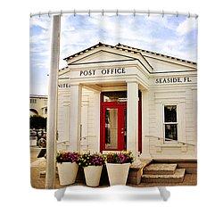 Seaside Post Office Shower Curtain by Scott Pellegrin