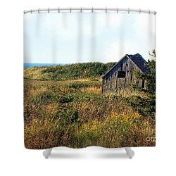 Seaside Shed - September Shower Curtain by RC DeWinter