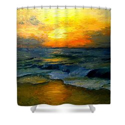 Seaside Sunset Shower Curtain