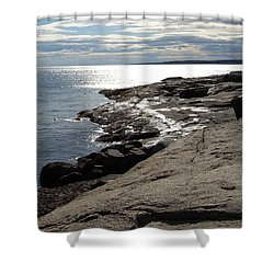 Shower Curtain featuring the photograph Seasider by Mim White