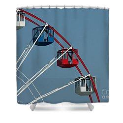 Seaside's Ferris Wheel Shower Curtain