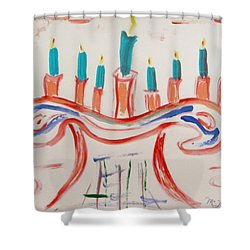 Season Of The Lights Shower Curtain by Mary Carol Williams