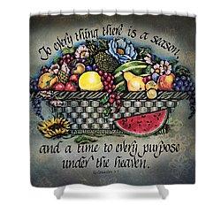 Seasons Scripture Shower Curtain by La Rae  Roberts