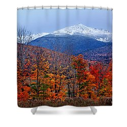 Seasons' Shift #2 - Mount Washington - White Mountains Shower Curtain by Nikolyn McDonald