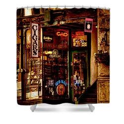 Seattle Cigar Shop Shower Curtain