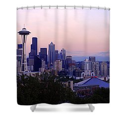 Seattle Dawning Shower Curtain by Chad Dutson