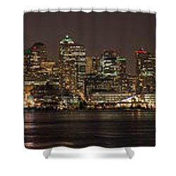 Seattle Lake Union Winter Reflection Shower Curtain