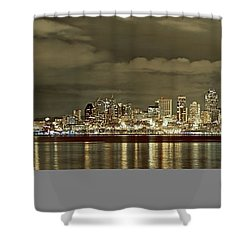 Seattle Lights At Night From Alki Shower Curtain