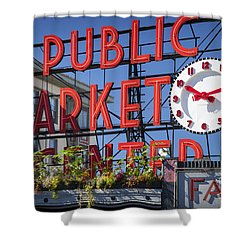 Seattle Market  Shower Curtain by Brian Jannsen