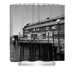 Shower Curtain featuring the photograph Seattle Pier by Kirt Tisdale