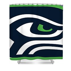 Seattle Seahawks Shower Curtain by Tony Rubino