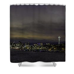 Seattle Skyline Shower Curtain by Charlie Duncan