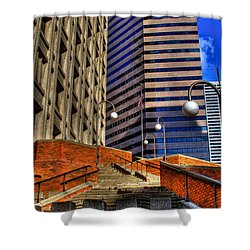 Seattle Skyscrapers IIi Shower Curtain by David Patterson