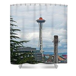 Seattle Spaceneedle Golden Anniversary Art Prints Shower Curtain