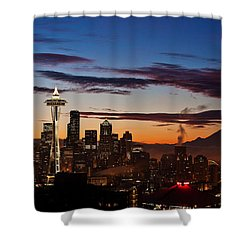Seattle Sunrise Shower Curtain