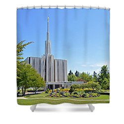 Seattle Temple - Horizontal Shower Curtain