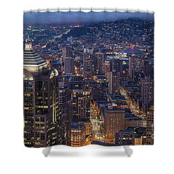 Seattle Urban Details Shower Curtain by Mike Reid