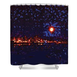 Seattle Waterfront, No. 1 Shower Curtain by James Kramer
