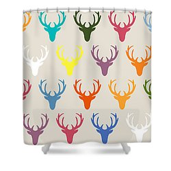 Seaview Simple Deer Heads Shower Curtain