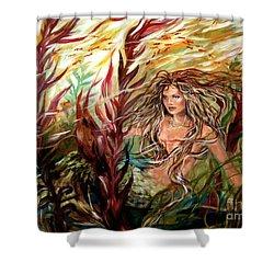 Seaweed Mermaid Shower Curtain