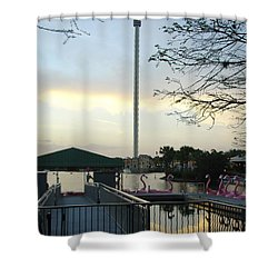Shower Curtain featuring the photograph Seaworld Skytower by David Nicholls