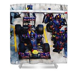 Sebastian Vettel Of Germany Shower Curtain