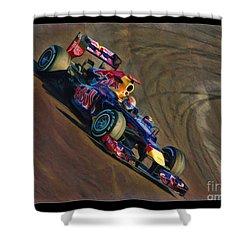 Sebastian Vettel - Red Bull Shower Curtain