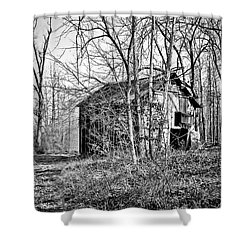 Shower Curtain featuring the photograph Secluded Barn Series 3 In Bw by Greg Jackson