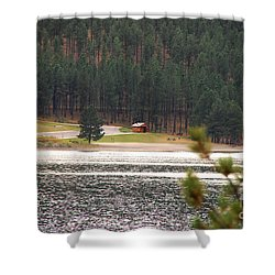 Secluded Cabin Shower Curtain by Mary Carol Story
