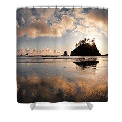 Second Beach Shower Curtain by Leland D Howard