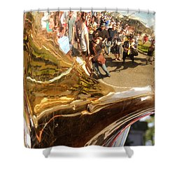 Second Line Tuba Shower Curtain