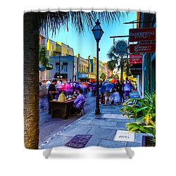 Second Sunday On King St. Charleston Sc Shower Curtain