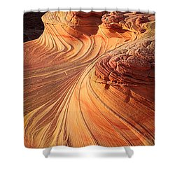 Second Wave Flow Shower Curtain by Inge Johnsson