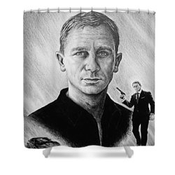 Secret Agent Shower Curtain by Andrew Read