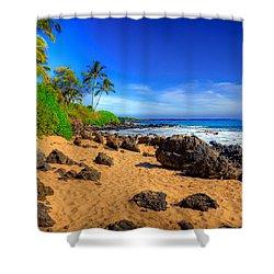 Secret Beach Maui Shower Curtain