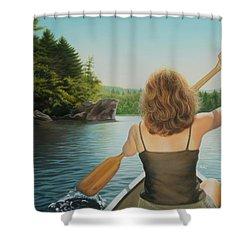 Secret Cove Shower Curtain by Holly Kallie