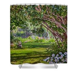 Secret Garden Shower Curtain by Omaste Witkowski