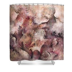 Secrets And Lace Shower Curtain by Rachel Christine Nowicki