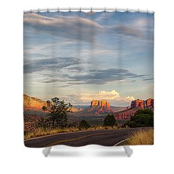 Sedona Arizona Allure Of The Red Rocks - American Desert Southwest Shower Curtain