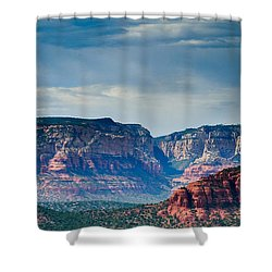 Sedona Arizona Panorama Shower Curtain