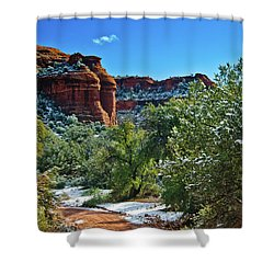 Shower Curtain featuring the photograph Sedona Arizona - Wilderness Area by Bob and Nadine Johnston