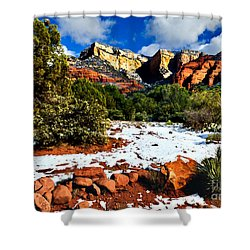Sedona Arizona - Wilderness Shower Curtain by Bob and Nadine Johnston