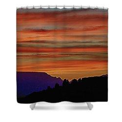 Sedona Az Sunset 2 Shower Curtain by Ron White