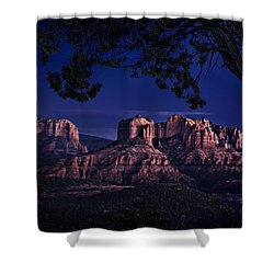 Sedona Cathedral Rock Post Sunset Glow Shower Curtain
