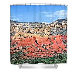 Sedona Landscape Shower Curtain by Jane Girardot