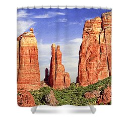 Sedona Red Rock Cathedral Rock State Park Shower Curtain by Bob and Nadine Johnston