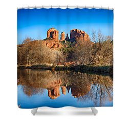 Sedona Winter Reflections Shower Curtain
