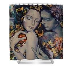Seduction Shower Curtain by Dorina  Costras