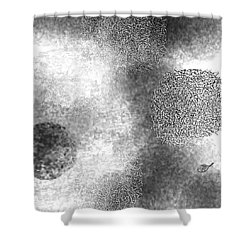 Seeking Definition Shower Curtain by Mathilde Vhargon